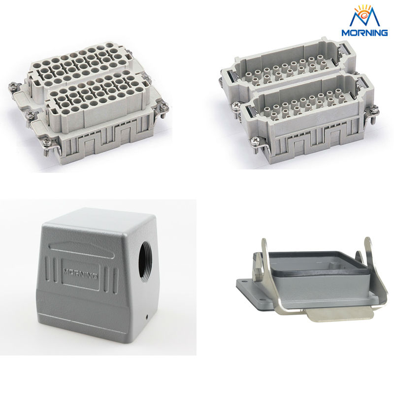 Price HEE-064 16A whole set 64 pin heavy duty connector whole set selling 16 folding mother