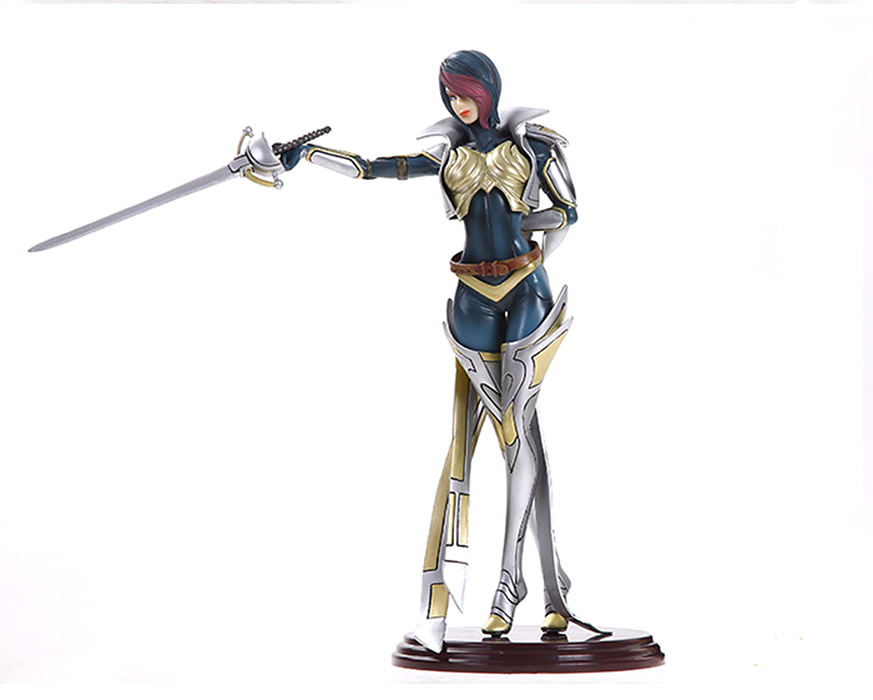 Cosplay LOL The Grand Duelist Fiora 27.5cm/10.8'' Boxed PVC GK Garage Kit Action Figures Toys Model vocaloid cosplay hatsune miku q version boxed pvc small gk garage kit action figures model toys 4pcs set