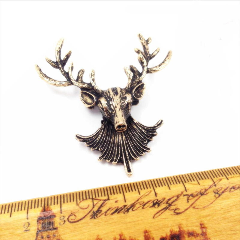 Mdiger Wholesale Mixed 9 PCS/LOT Vintage Deer Head Designer Sweater Pin Retro Cute Short Pin Shirt Collar Pins Mens Brooch