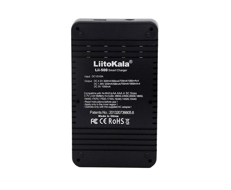 LiitoKala lii-500 LCD 3.7V 1.2V 18650 26650 16340 14500 10440 18500 Battery Charger 100% original LiitoKala factory lii500