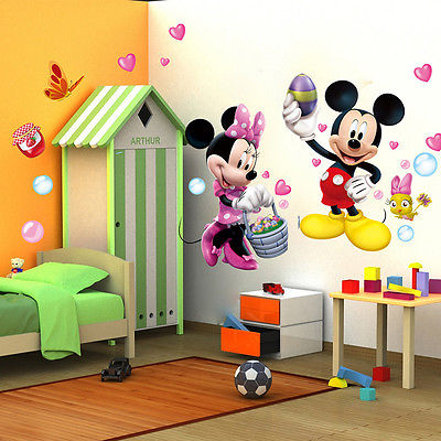 Mickey Minnie Mouse Clubhouse Adesivos De Parede Home Decor Mural Art  Adesivos De Vinil Decalques DIY Part 46