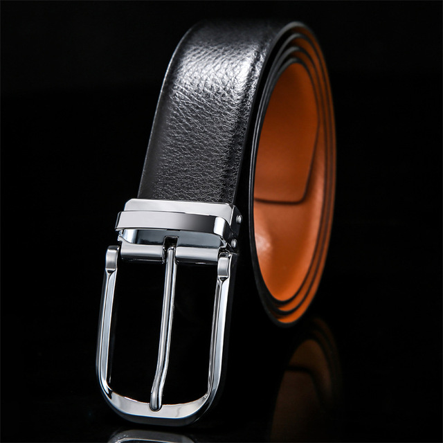 958042795e0 2019 New Mens Fashion Boutique Double-sided Use Cowhide Official Business  Pin Buckle Belts /