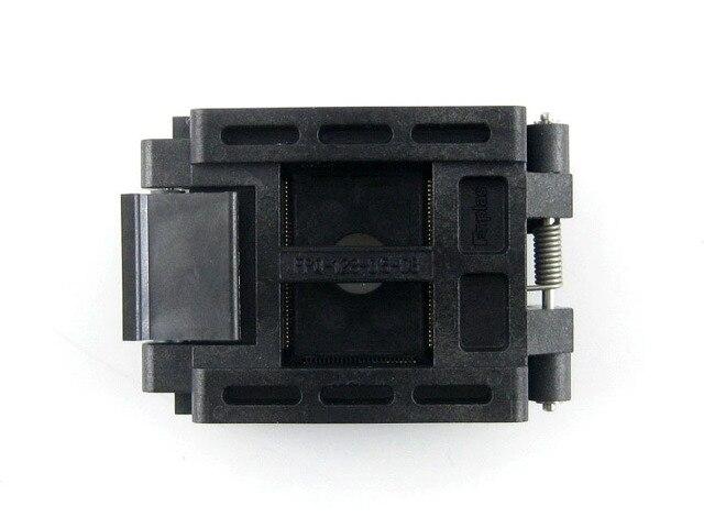 QFP128 TQFP128 LQFP128 PQFP128 Enplas FPQ-128-0.5-03A QFP IC Испытания Burn-в разъем 0.5 мм Шаг Раскладушка IC Размер Тела 20*14 мм