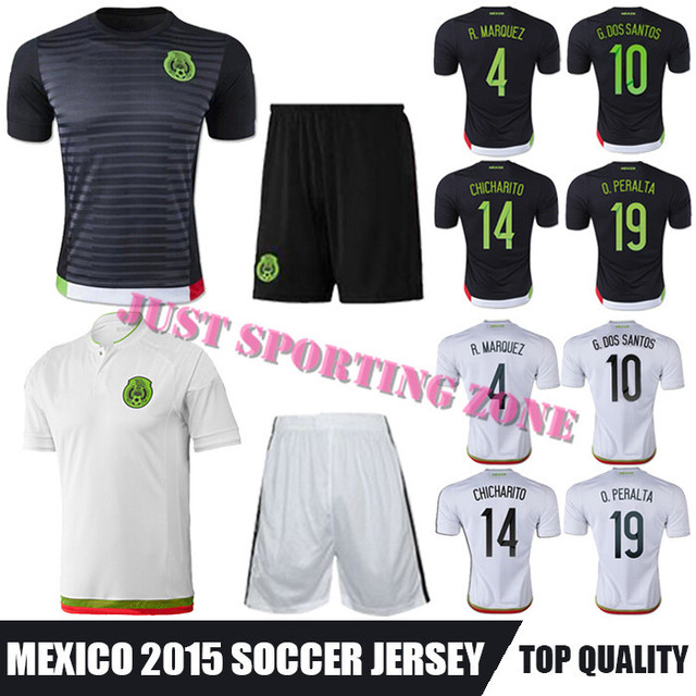 89b0f72c6 2015 2016 mexico soccer jersey uniform white away long sleeves 19 o ...