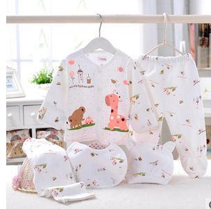 Nueva 5 unids set bebé recién nacido de la marca niña ropa 100% algodón e4c3caf3910d