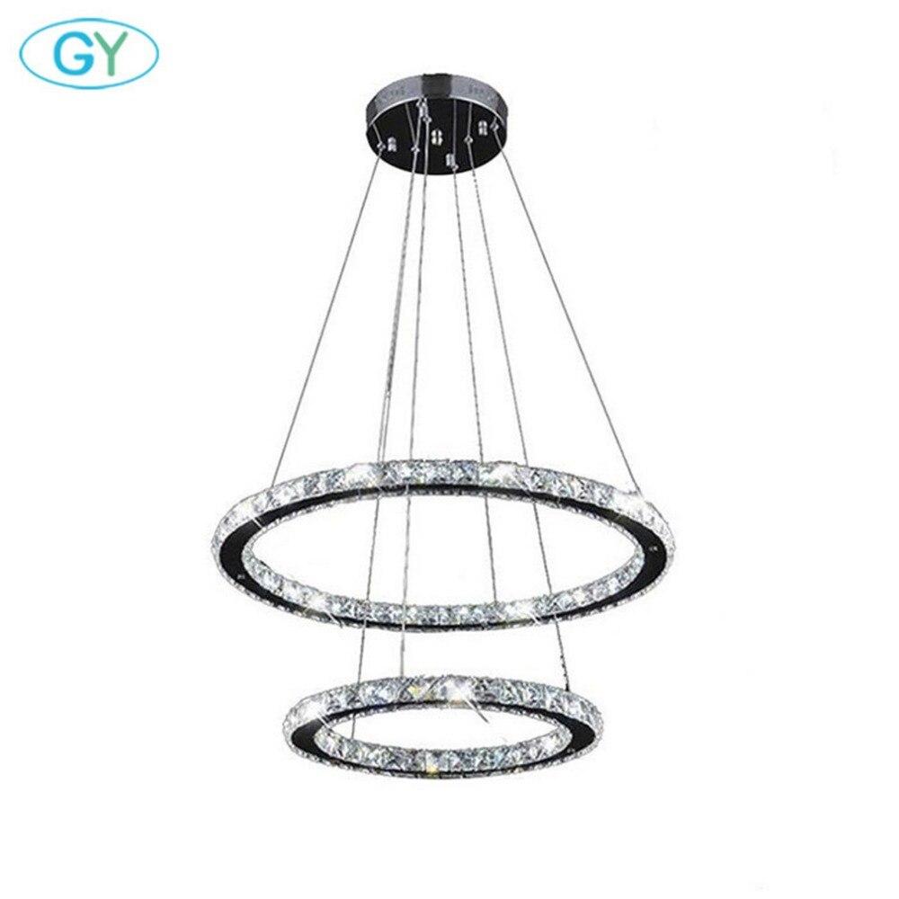 Modern 45W D40cm+D60cm 2 Ring Chandelier Warm White cold White LED Ceiling Pendant Lighting for Kitchen Dining Table Home lustre