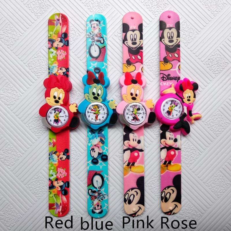 Beautiful Girls Watches Kids Pink Cartoon Anime Clocks Colorful Rubber Watchband Wristwatch For Girls Children Montre Enfant