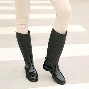 Image 2 - 2018 new women rain boots lady rain water shoes ourdoor rainboots  Italianate Pvc rubber rainboots lady Waterproof shoes