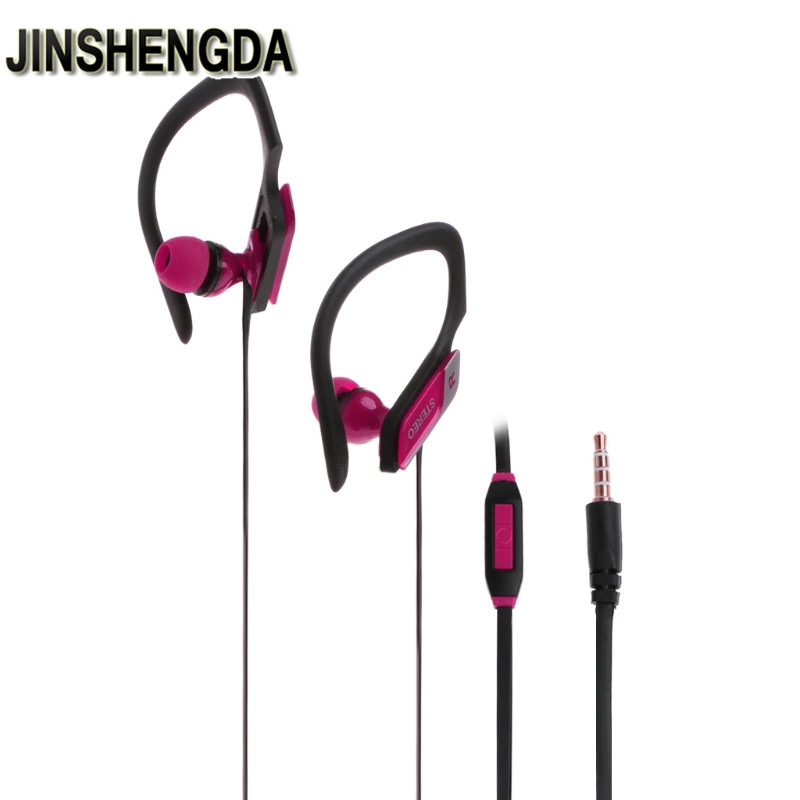 JINSHENGDA In-Ear Earphone 3.5mm Stereo Earbud Ear Hook In-Ear With Microphone For iPhone Samsung original xiaomi mi hybrid earphone in ear 3 5mm earbuds piston pro with microphone wired control for samsung huawei p10 s8