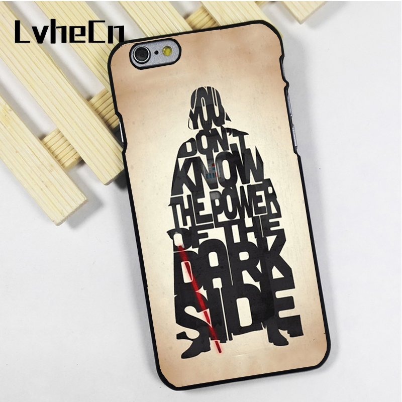 LvheCn phone case cover fit for iPhone 4 4s 5 5s 5c SE 6 6s 7 8 plus X ipod touch 4 5 6 Darth Vader Star Wars