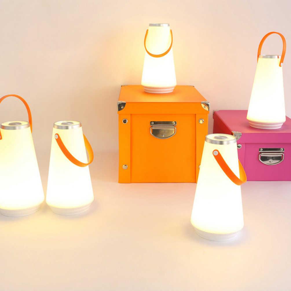Ledgle 3 w lâmpada led lanterna recarregável sem fio lâmpadas ao ar livre luz noturna inteligente lanterna led portátil, luz branca quente
