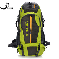 50L Large Capacity Professional Climb Backpack Oxford Waterproof Bags Mountaineering Hiking Outdoor Sport Bags FK54