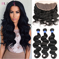 Lace Frontal Closure with bundles brazilian virgin hair body Wave with closure Brazilian body wave 3pcs with frontal closure