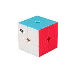 Image 2 - Qiyi Xmd 4 Cubes Set Magische Kubus Set Omvat 2X2 3X3X3 4X4X4 5X5X5 Stickeless Cube Voor Brain Training Kinderspeelgoed