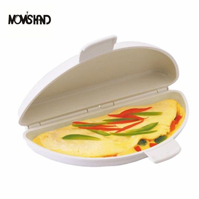 Tragbare Küche Zubehör Mikrowelle Omelette Herd Pan Microweavable Herd Omelett Eier Dampfer