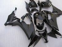Высокое качество обтекатели для Kawasaki ZX10R 2008 2009 2010 все черный ninja ZX 10R 08 09 10 обтекателя комплекты THB85