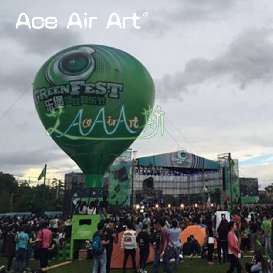 new style Giant inflatable advertising roof ballon or Hot Air Balloon replica with blower made by ace air art