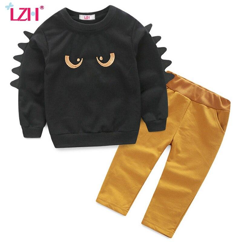LZH Boys Clothes Sets Long Sleeve T Shirt Pant 2pcs Outfit 2017 Autumn Spring Kids Clothes