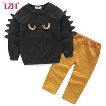 LZH Garçons Vêtements Ensembles À Manches Longues T-Shirt + Pantalon 2 pcs tenue 2017 Automne Printemps Enfants Vêtements Garçons Sport Costume Enfants vêtements