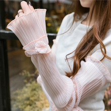 Chiffon sunscreen cuffs ladies long section outdoor driving tram half accessories Apparel Arm Warmers Women Fake Sleeves cuff