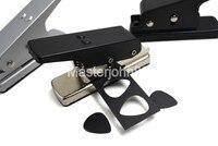 Areia de Prata/Preto/Cromo Preto Da Guitarra Picks Plectrum Criador Escolha Soco Card Cutter Maker Com Cartões de Presente Curta lidar com