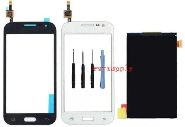 ЖК-дисплей + Передняя Топ Сенсорный Экран объектив Дигитайзер Стеклянная Панель + Наклейка + Наборы для Samsung Galaxy Core Prime SM-G361F