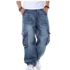 Image 5 - Джинсы мужские мешковатые джинсы Мульти Карманы скейтборд карго джинсы для мужчин Тактические Джинсы джоггеры джинсы размера плюс 30 46