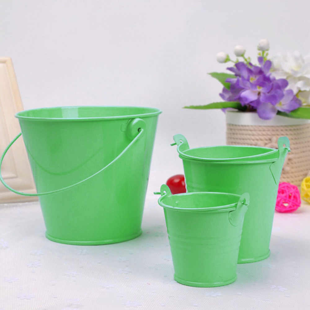 Mini seau en métal Pot de fleur plante succulente Pot de fleurs mur Vertical suspendu seau étain support panier coloré S M L