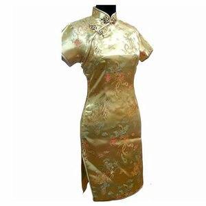 Image 5 - Grande taille 3XL 4XL 5XL 6XL Mini Cheongsam bleu marine Vintage Style chinois femmes Qipao robe courte Vestido S M L XL XXL