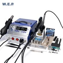 WEP 948-II паяльная станция фена присоски олова пистолет паяльник всасывания ручка 4In 1 паяльная станция