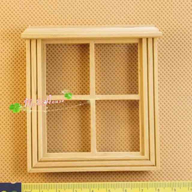 1:12 Doll House Miniature DIY fitment Material Classic French Door