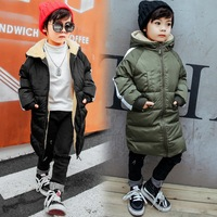 Winter Fleece Jacket For Girl & Boy Clothes For Girls Children Thick Outerwear Park Casual Hooded Long Warm Jackets 2018 New