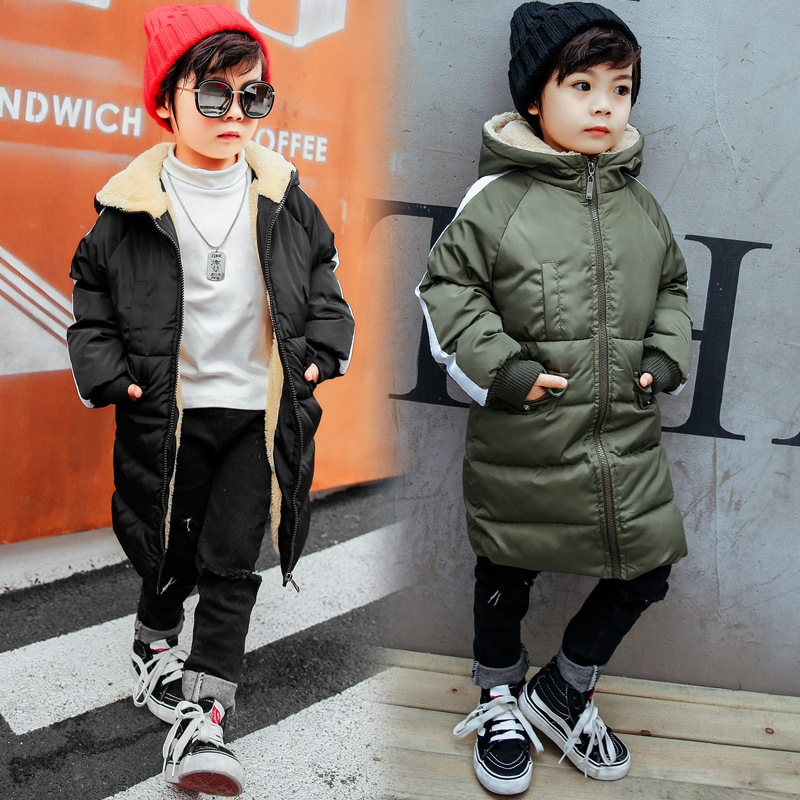 Winter Fleece Jacket For Girl & Boy Clothes For Girls Children Thick Outerwear Park Casual Hooded Long Warm Jackets 2018 New winter baby girl coats kids warm long thick hooded jacket for girls 2017 casual toddler girls clothes children outerwear