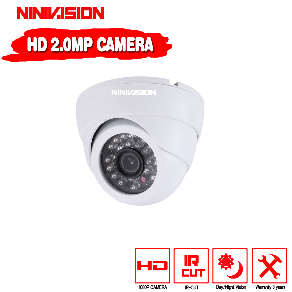 Special offer CCTV 1080P AHD Camera Security Home IR Cut Mini Indoor White Dome 24led Infrared Night Vision 2.0MP Surveillance 60 led infrared security camera floodlight white