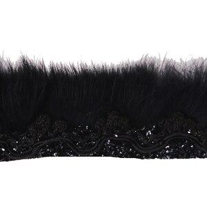 Image 2 - 10ヤード黒髪タッセルフリンジトリミング編組レース生地リボンモチーフアップリケ縫製アクセサリー用服T1757