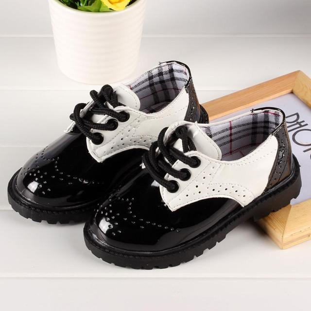 2017 autumn children shoes new Korean version of kids fashion shoes girls and boys shoes wholesale single leathes