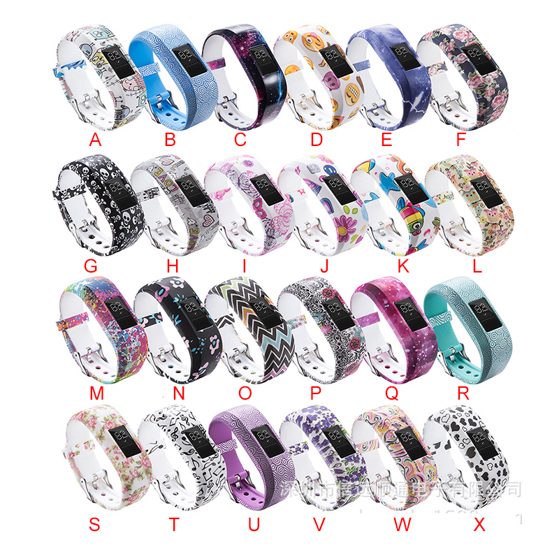 Essidi Fashion Printed Kids Watch Band Strap For Garmin Vivofit JR Wristband Strap Replacement For Garmin Vivofit JR 2