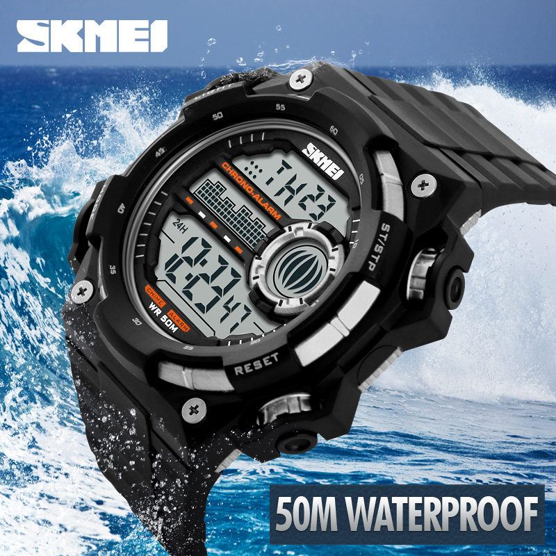 2018 Skmei Luxury Brand Men Sports Watches Digital LED Military Watch Waterproof Outdoor Casual Wristwatches Relogio Masculino