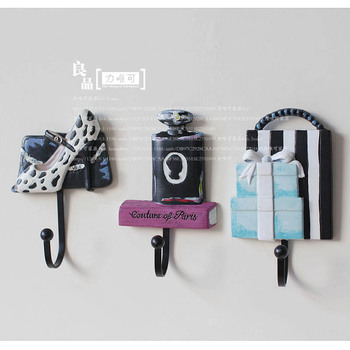 Specials! US exports of creative styling resin iron hook coat hooks wall coat hook home decoration
