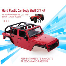 Hoge Kwaliteit Hard Plastic Auto Body Shell voor 313mm Wielbasis 1/10 Axiale SCX10 SCX10 II Chassis RC Jeep Truck auto DIY(China)