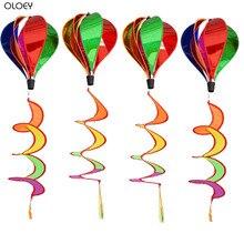 OLOEY Rainbow Rotating Hot Air Balloon Windmill Outdoors Kindergarten Christmas Decoration Handmade Childrens Toys