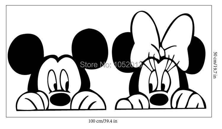New Anime Cartoon Film Sticker Mickey Mouse Minnie Mouse Tv