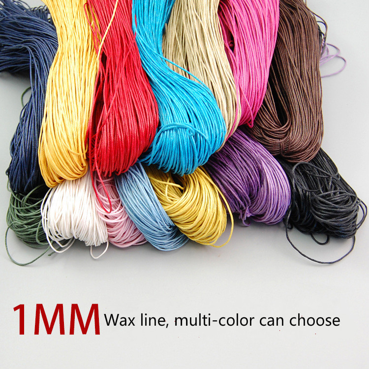 Approx 70m/lot 1mm Rainbow Tassel Cord DIY Bracelet Necklace Waxed Thread Jewelry Accessories Rope Colorful Beads Line Wholesale