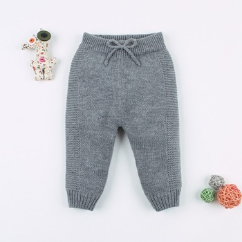 Children's Warm Knitted Trousers