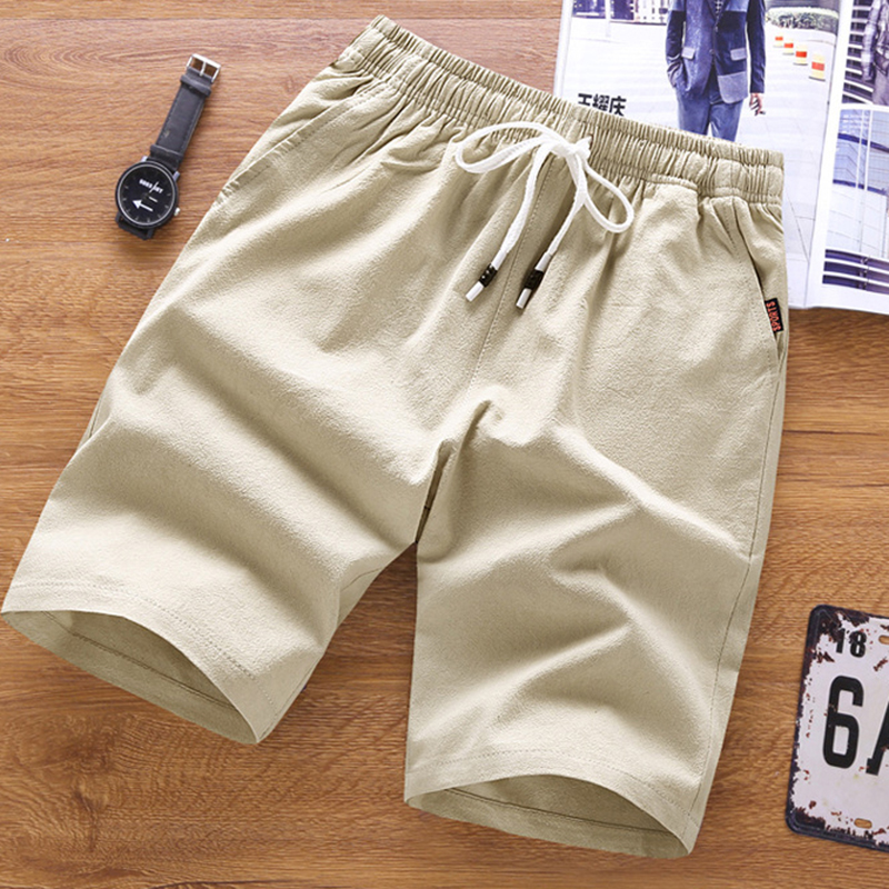 2019 Men 39 s shorts Solid Color Classic Casual Shorts Stylish Breathable Summer Basic Section Elastic 5XL Waistband Fish Bone in Casual Shorts from Men 39 s Clothing