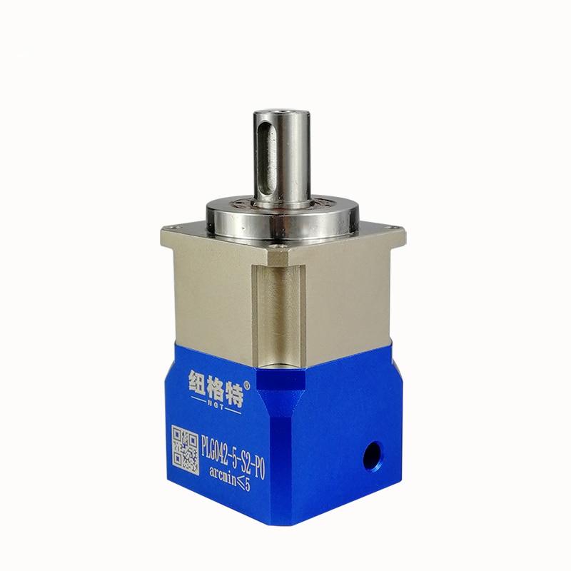high Precision Helical planetary gear reducer 5 arcmin Ratio 5:1 for 40mm 50W 100W AC servo motor input shaft 8mm