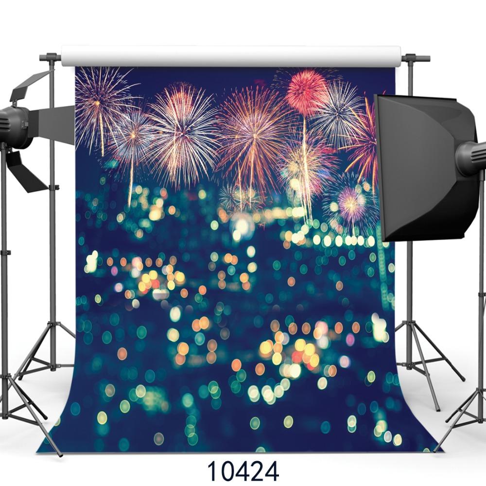New Year Fireworks photography background City night scene picture background Fond studio photo vinyle Background photograph