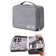 Reise Lagerung Tasche Kit Daten Kabel U Disk Power Bank Elektronische Zubehör Digitale Gadget Geräte Divider Organizer Container