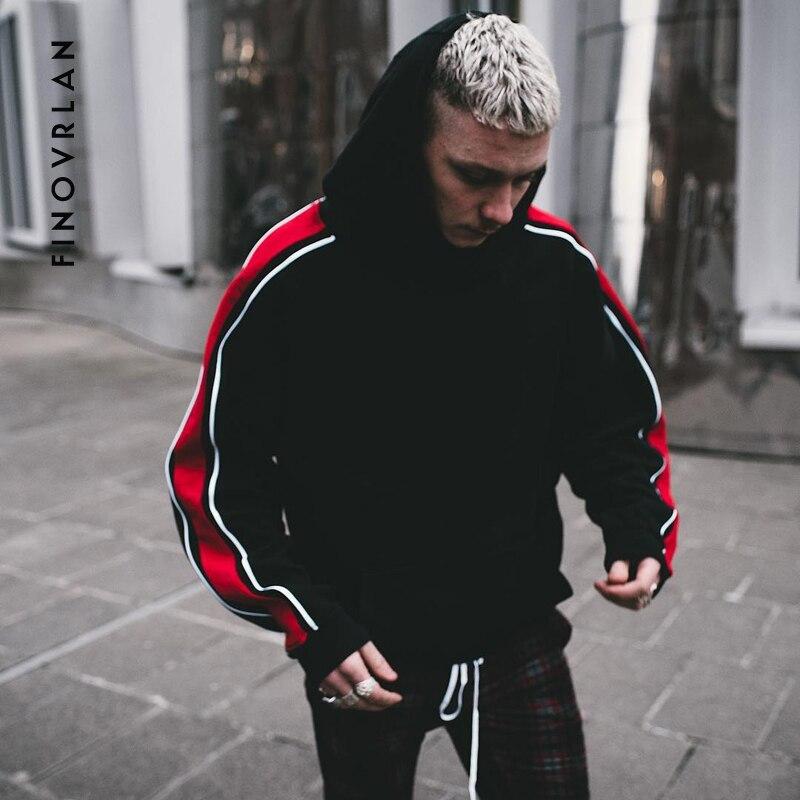 2018 nueva marca Kanye West Hoodie Streetwear Hip Hop stripe con capucha  Sudadera con capucha para Hombre Sudaderas tops talla grande c02e67d192e