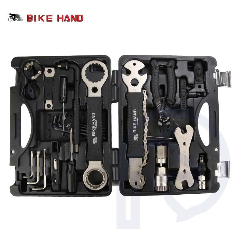 18 in 1 Strumenti di Riparazione di Biciclette Kit Box Set Multiuso MTB Pneumatico Catena di Strumenti di Riparazione Spoke Wrench Kit Hex Cacciavite utensili per biciclette